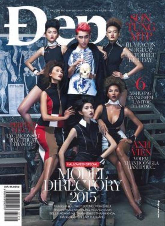 Bìa cover tạp chí Đẹp số tháng 10