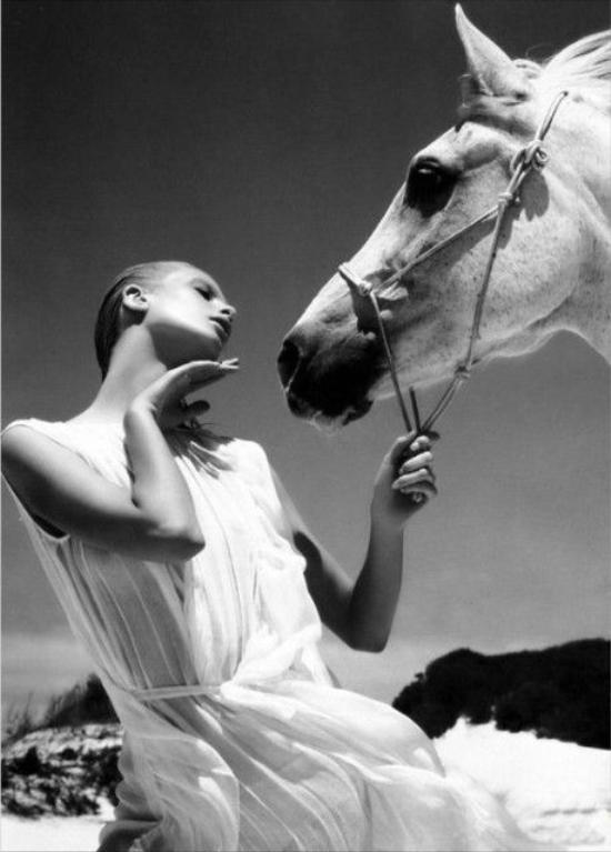 Sự tương tác giữa người mẫu và những chú tuấn mà chính là điều quan trọng để tạo nên một bức ảnh đẹp.