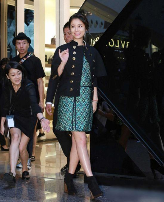 Lâm Tâm Như rạng rỡ có mặt tại một sự kiện ở Đài Loan.