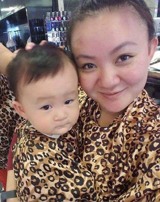 Con trai Xuân Mai rất giống mẹ ngày nhỏ.
