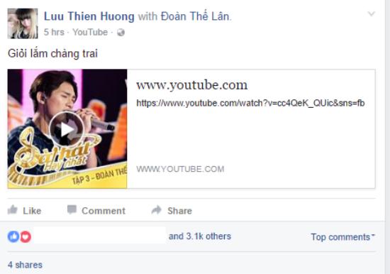 Nhạc sĩ Lưu Thiên Hương dành lời khen ngợi cho hotboy 16 tuổi.