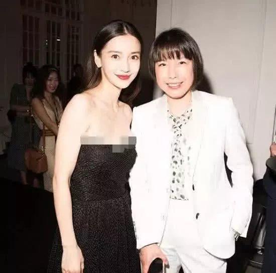 … và Angelababy né nhau hết cỡ, chụp hình riêng lẻ với Tổng biên tập Trương Vũ.
