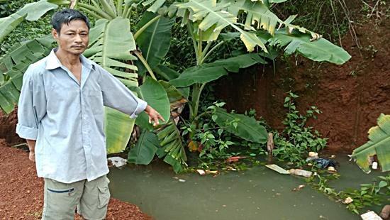 Hiện trường bé trai bị đuối nước. Ảnh: báo Công Lý