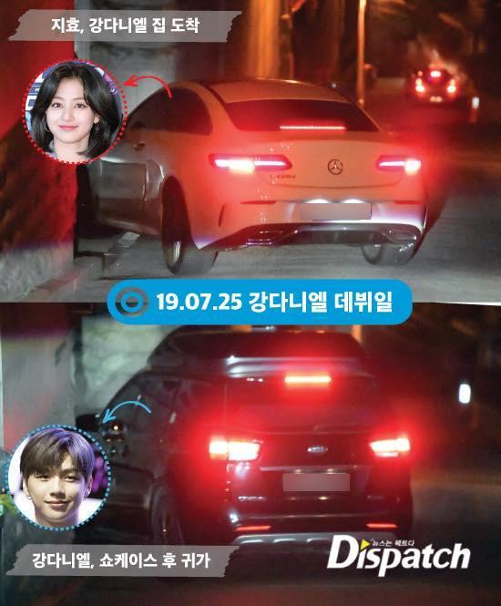 Dispatch tung bằng chứng Kang Daniel và Jihyo hẹn hò.