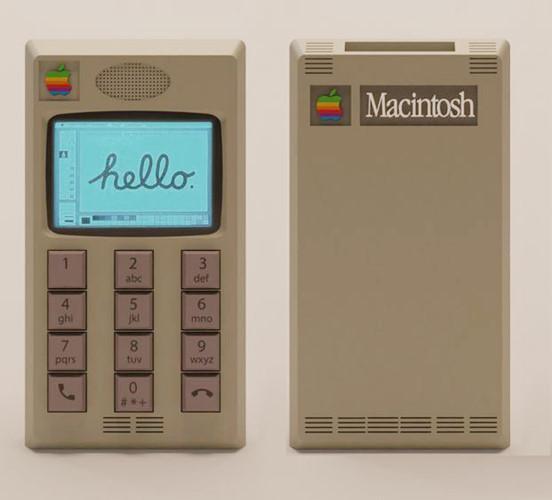 Ngay cả những cụm lỗ thoát nhiệt được thiết kế thành 4 đường kẻ ngang song song, xếp hình vuông trên Macintosh cũng được mô phỏng rất chi tiết trong bản thiết kế này.