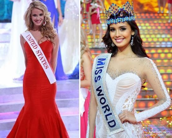 Hoa hậu Mỹ và Hoa hậu Thế giới 2013 người Philippines Megan Young.