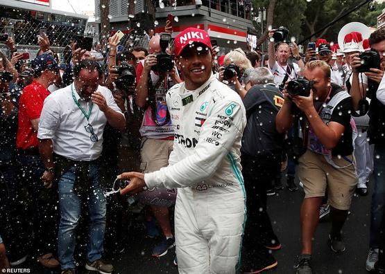 Sau trận đấu, Hamilton đã có màn ăn mừng bằng cáchphun sâm banh lên khắp các thành viên trong đội, bao gồm cả Wolff. Chiến thắng Monaco GP 2019 lần này không chỉ là chức vô địch GP thứ 77 của GP mà còn là chiến thắng lần thứ 3 trong sự nghiệp của Lewis Hamilton.