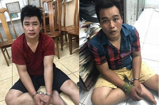 Nghi phạm Nguyễn Tấn Tài và Nguyễn Hoàng Châu Phú. Ảnh: Vietnammoi.
