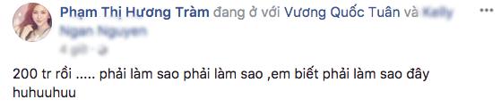 Hương Tràm xúc động chia sẻ thành tích từ bản hit Em gái mưa trên trang cá nhân.