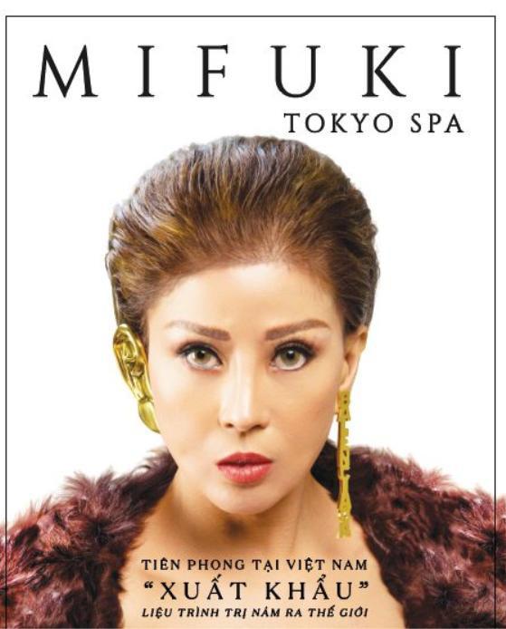 """Hình ảnh quảng cáo chiến dịch Mifuki Tokyo Spa tiên phong """"xuất khẩu"""" thẩm mỹ ra thế giới."""