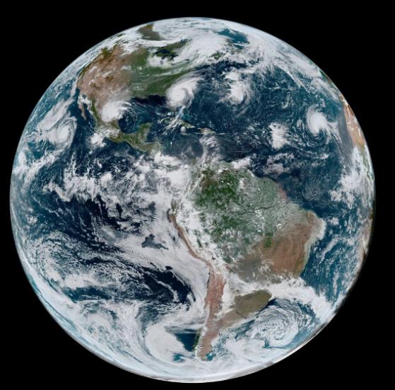 Bão nhiệt đới phủ khắp bán cầu Tây của Trái đất vào tháng 9/2019.