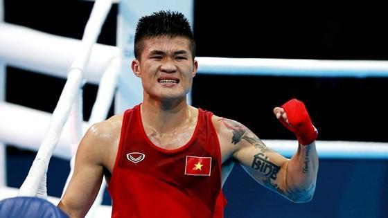 Nhà vô địch boxing SEA Games 28 Trương Đình Hoàng.