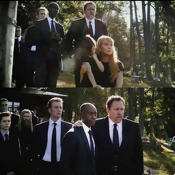 Đám tang của Tony Stark đã có rất nhiều người tham dự