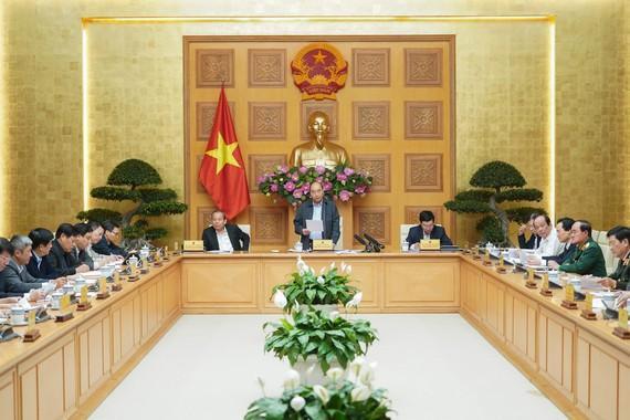 Thường trực Chính phủ họp chiều 24/2. Ảnh: báo SGGP