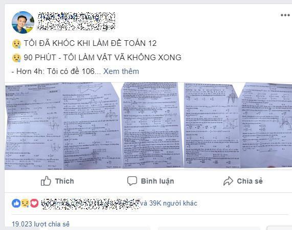 Chia sẻ của thầy Tùngg trên trang cá nhân