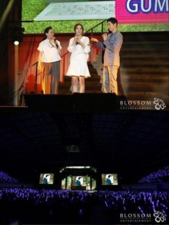 Gummy và Song Joong Ki giao lưu cùng fan.
