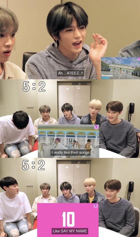 2. Taeyong (NCT) thể hiện sự yêu thích ca khúc của ATEEZ
