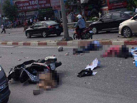 Vụ tai nạn khiến nhiều người bị thương. Ảnh: VOV Giao Thông