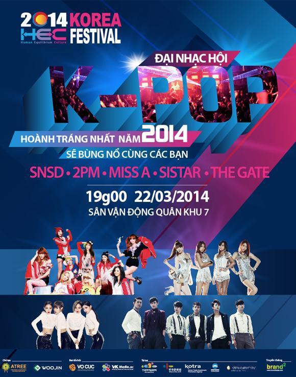 Với HEC, khán giả TP HCM được gặp SNSD, 2PM, Miss A,…