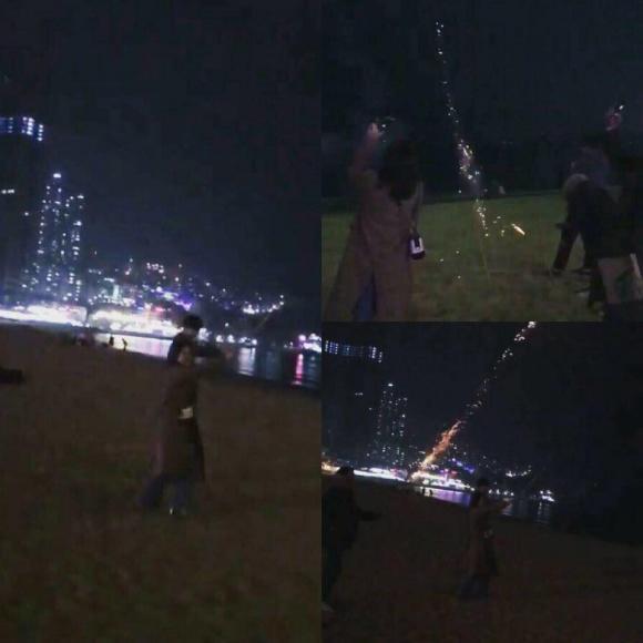 Hình ảnh được cho là Chi Pu và Jin Ju Hyung cùng đi ngắm pháo hoa ở Đài Loan.