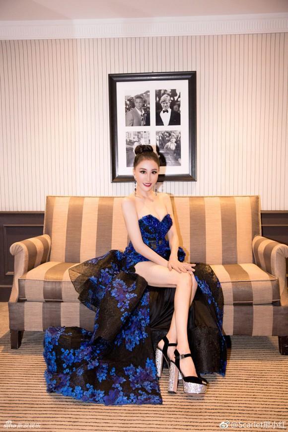 Hoa hậu Quý bà Trung Quốc đáp trả chỉ trích giả vờ té ngã để khoe ngực tại thảm đỏ Cannes 2018 ảnh 9
