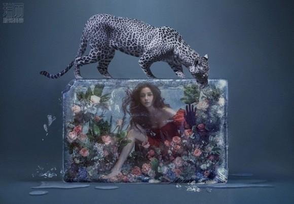 Một Angelababy hoang dại nhưng vẫn rất xinh đẹp trong loạt hình chụp thời trang cùng với các họa tiết 3D nổi bật