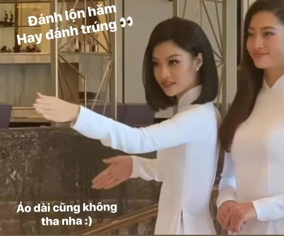 """Á hậu Kiều Loan bắt trend """"đi đường quyền"""" bảo vệ Lương Thùy Linh?"""