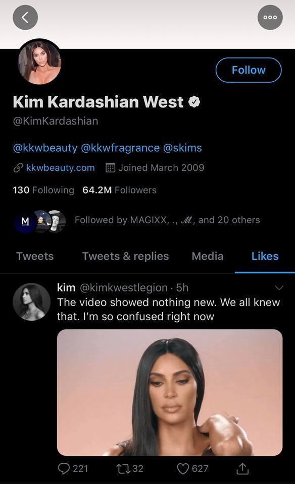 """Kim Kardashian cảm thấy """"bối rối"""" sau khi scandal bị lật lại."""