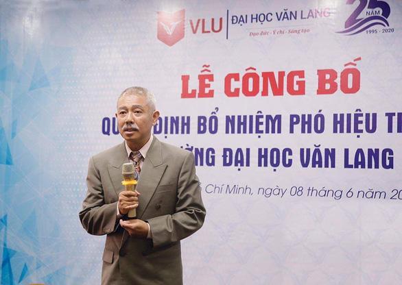 """Ông Thành phát biểu trong ngày ông trở thành """"tân"""" Phó hiệu trưởng nhà trường. Ảnh: Đại học Văn Lang"""