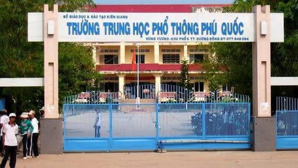 Trường THPT Phú Quốc. Ảnh: báo Tuổi Trẻ Online.