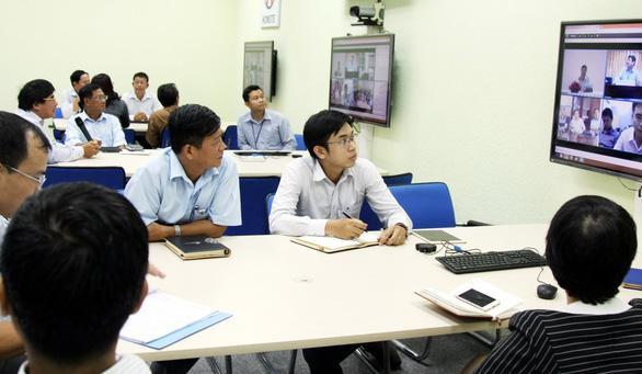 Nhóm xét tuyển phía Nam được thành lập với sự tham gia của gần 40 trường ĐH họp tại Trường ĐH Sư phạm kỹ thuật TP.HCM năm 2017. Ảnh: Trần Huỳnh/Báo Tuổi Trẻ