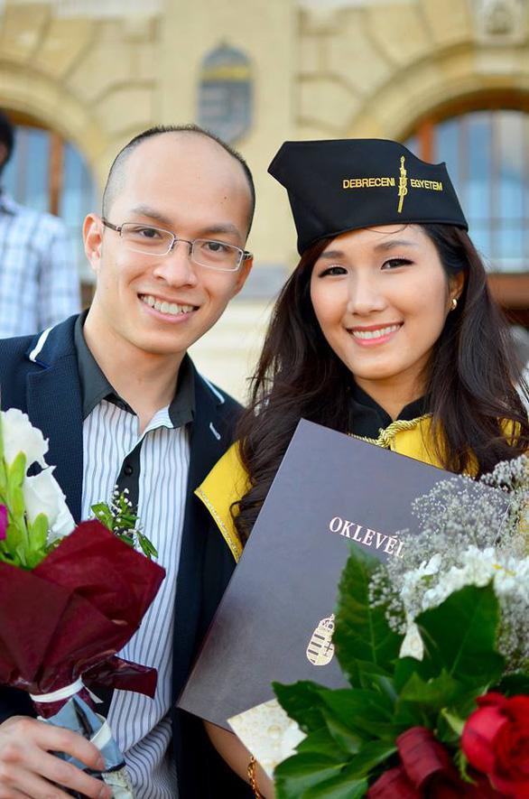 Nữ tiến sĩ 8x Trang Bảo Khanh và chồng