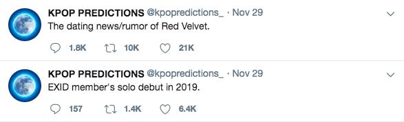 Red Velvet sẽ có tin đồn hẹn hò? VàEXID cũng có một cái tên sẽ debut solo vào năm sau?