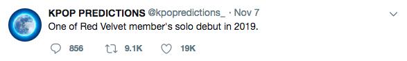 Một thành viên Red Velvet sẽ tách ra solo vào năm 2019?