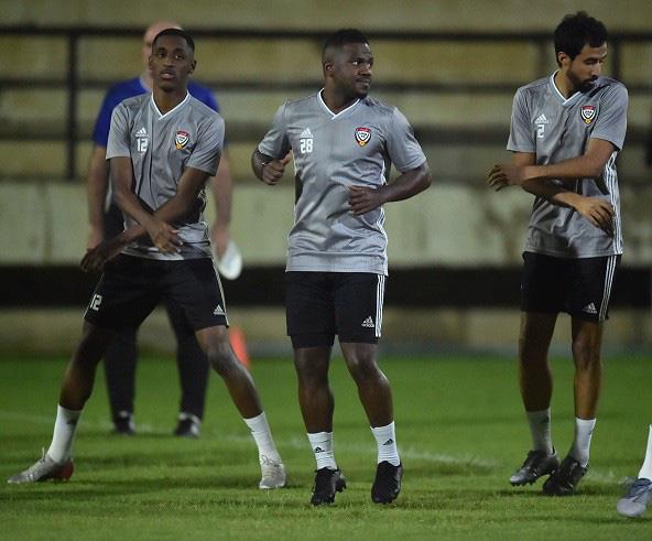 Theo bản tin thể thao hôm nay, các cầu thủ UAE đang tập luyện tích cực tại Thái Lan. (Ảnh: UAEFA).
