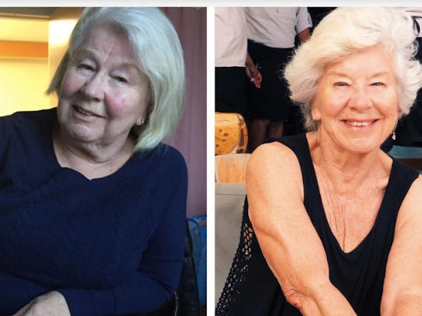 Sốc rớt hàm với cụ bà 73 tuổi tập gym giảm 20 kg trong sáu tháng ảnh 1