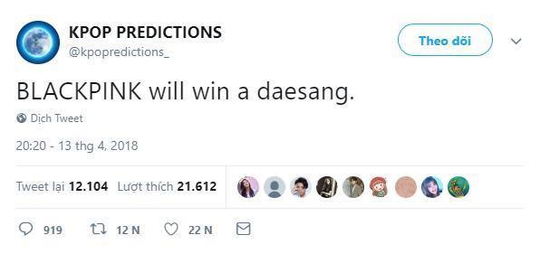 BLACKPINK sẽ thắng giải Daesang liệu có thành sự thật trong khi các cô nàng không hề tham gia các lễ trao giải cuối năm?