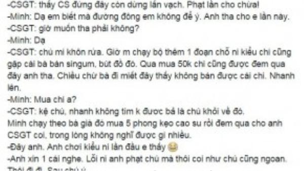 Nguyên văn chia sẻ của bạn N.H.H. trên Facebook.