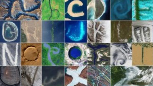 Bảng chữ cái tiếng Anh 26 chữ được chụp từ vệ tinh