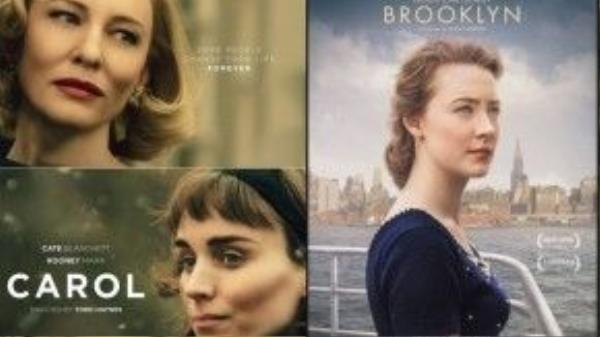 'Carol' và 'Brooklyn' là hai đối thủ nặng ký cho mùa Oscar 2016 ở nhiều hạng mục.
