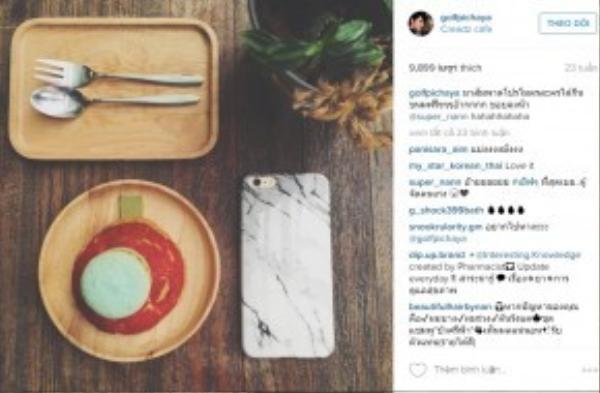 Trước đó, trên trang Instagram của Golf, anh chàng cũng tỏ ra thích thú khi đăng tải món bánh macaron bắt mắt từ cửa hàng Creadz Cafe.