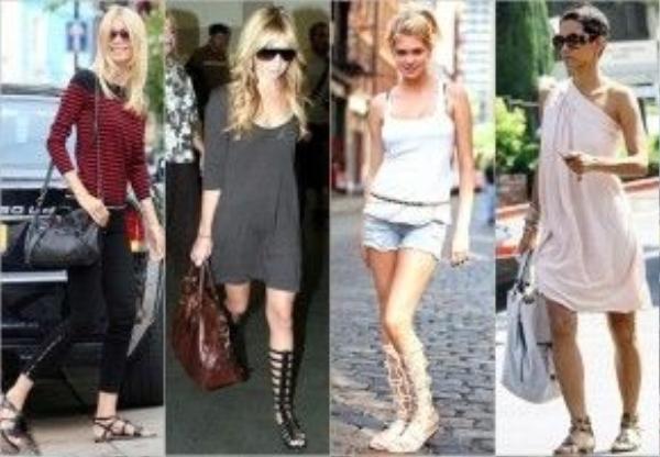 Còn đây lại là những set đồ điển hình cho mọi cô nàng vào những ngày nắng nóng. Từ váy dài đến áo thun hay tank-top, tất cả đều có thể đi cùng với một đôi sandal.