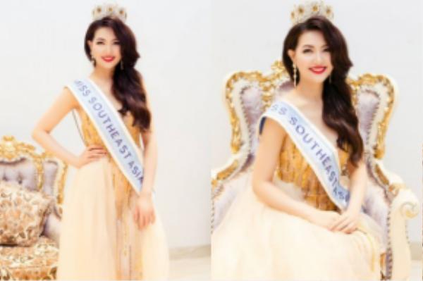 Mai Ngân đăng quang Hoa hậu Đông Nam Á 2016.