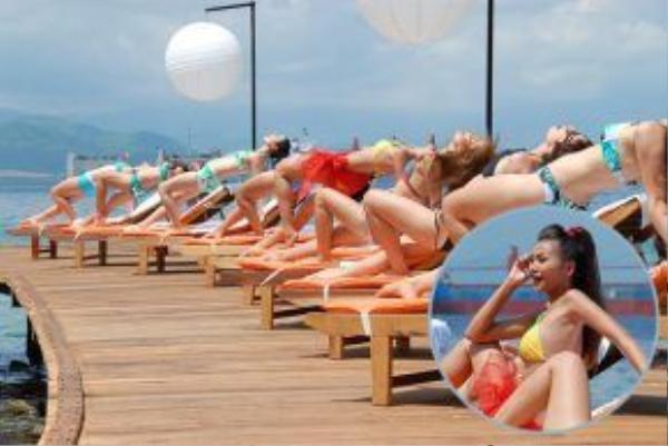 Cây cầu gỗ vươn ra biển là hình ảnh quen thuộc trong Những nụ hôn rực rỡ, nơi quay nhiều cảnh quay đẹp mắt, nóng bỏng với các cô nàng mặc bikini quyến rũ, thuộc Ngọc Sương Resort, nằm trên vịnh Cam Ranh, Nha Trang.