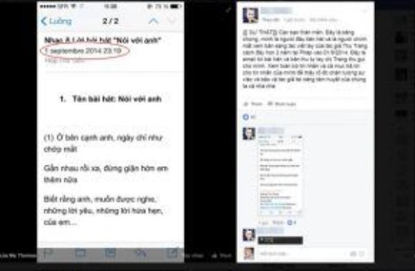 Facebook M.T cũng tiếp tục tung bằng chứng đã từng hát ca khúc này từ 1/9/2014.