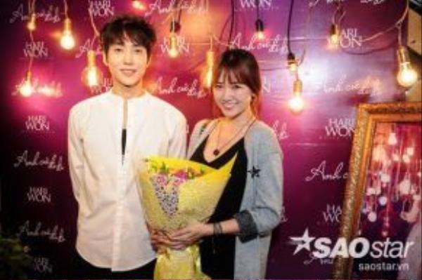 Hari và thành viên nhóm nhạc nam M-TIFUL Choi Won Joon.