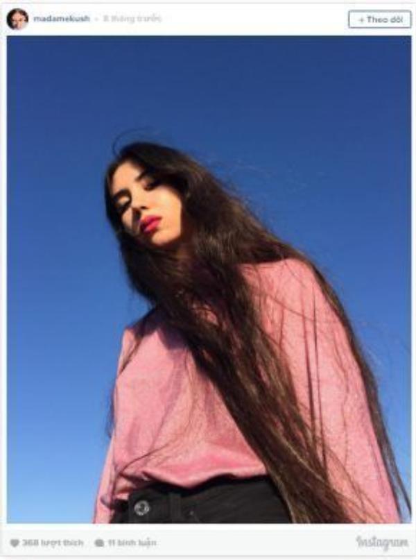 """Kush chia sẻ, cô xem mái tóc như đặc điểm """"nhận diện thương hiệu"""" của bản thân."""