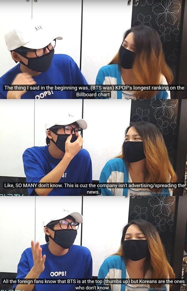Một số ý kiến cho rằng BigHit chỉ chủ yếu cho BTS đi tour concert nước ngoài chứ chưa chú trọng quảng bá cho gà nhà ở Hàn Quốc. Do vậy mà một bộ phận công chúng Hàn chưa ý thức được mức độ nổi tiếng của nhóm.