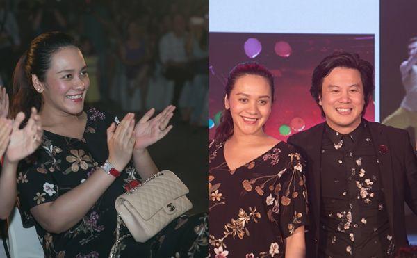 Bà xã Thanh Bùi lộ bụng bầu 6 tháng khi tới chúc mừng anh kỷ niệm 4 năm trường âm nhạc Soul.
