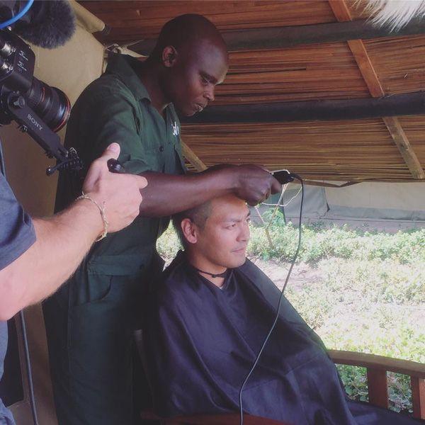 """Với thông điệp """"lấy tóc tôi chớ lấy sừng"""", Phan Anh mong muốn phần nào đánh thức suy nghĩ của những người đang cho rằng sừng tê giác có thể chữa được bệnh mà trên thực tế nó chỉ cấu tạo như tóc, móng tay người."""